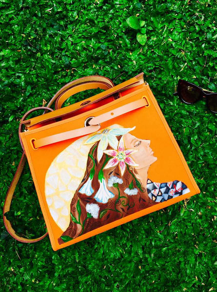 0d207fb024 ... best heart evangelista was commissioned to paint on this orange hermes  bag.photo from instagram ...