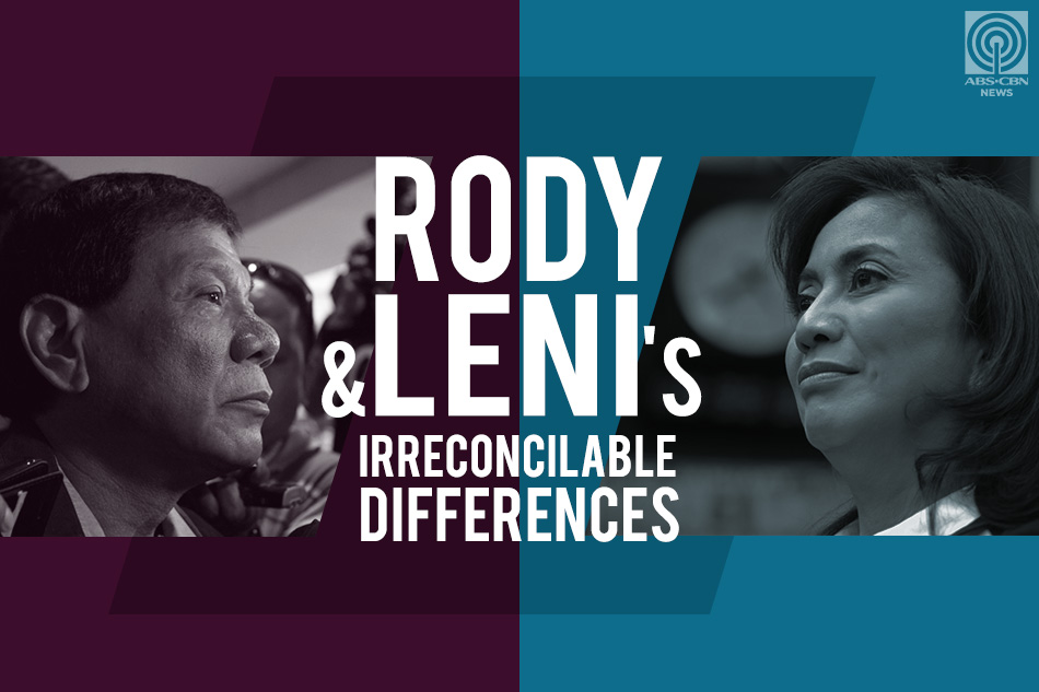 Rody and Leni's irreconcilable differences;