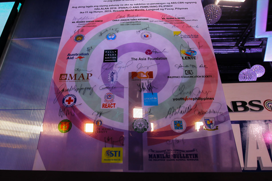 ABS-CBN unveils Halalan 2016 theme in covenant signing with partners 2